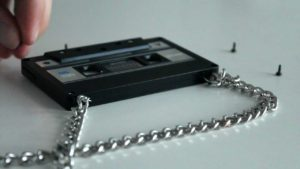 Cassette necklace